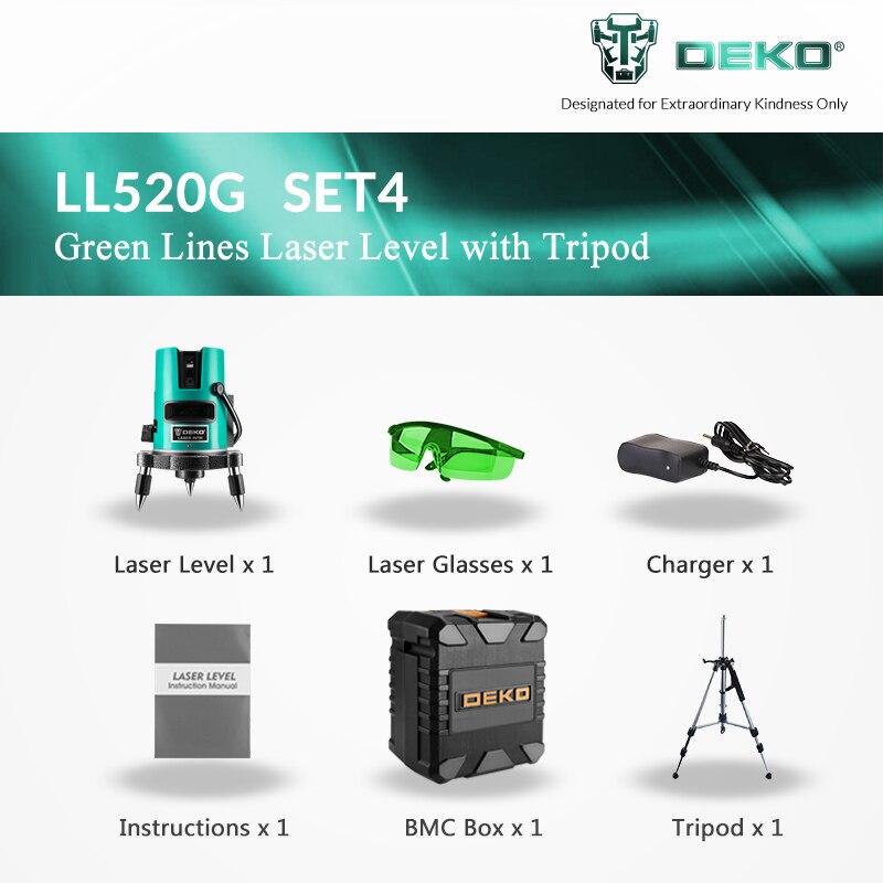 DEKOPRO 5 Linien 6 Punkte Laser Level 360 Vertikale und horizontale Rotary