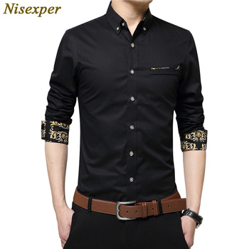 Casual Dress Male Social Shirt
