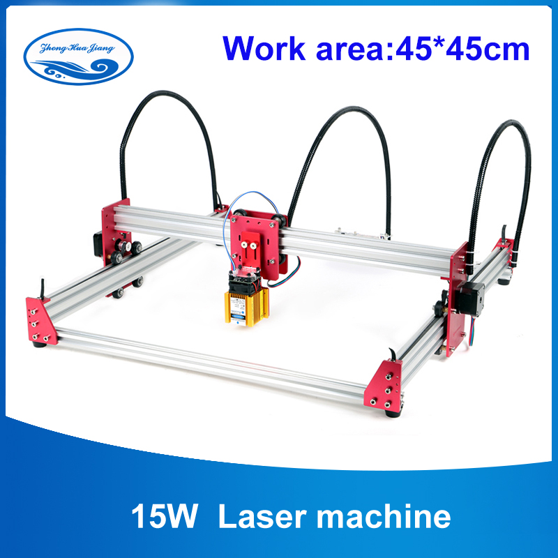 15W DIY Laser Engraver Machine 45*45cm Engraving Machine 2Axis Wood Router Mini Marking Machine Advanced Toys15W DIY Laser Engraver Machine 45*45cm Engraving Machine 2Axis Wood Router Mini Marking Machine Advanced Toys
