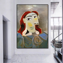 World famous painting Picasso impressionist wall art canvas painting poster and print home decoration for livingroom Framed
