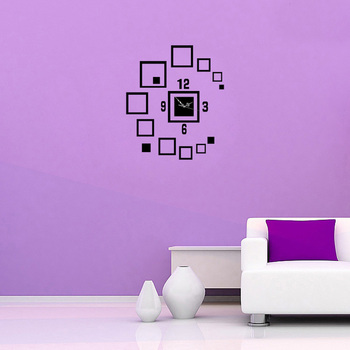 3D Acrylic Wall Clock Mirror Wall Sticker for living room bedroom background decorations fashion Wall
