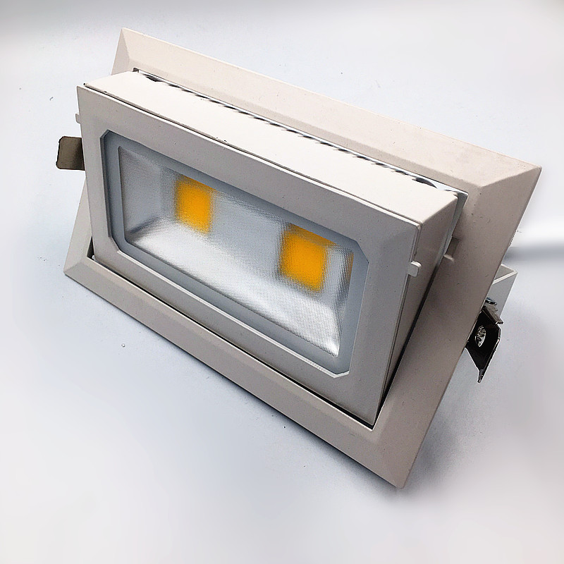 40W45W Rotatable Rectangle LED COB Downlights Adjustable 90degree Die-cast aluminum white flood lamp Replace R7S halogen lamp high power dimmable 189mm led r7s light 50w cob r7s led lamp with cooling fan replace 500w halogen lamp