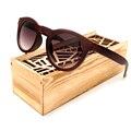 Bobobird 2017 simples imitativa cat eye design óculos de sol de madeira de ébano artesanal barato óculos com caixa de madeira oculos de sol feminio
