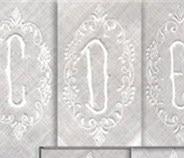 Fashion Men's Monogrammed Handkerchiefs 12 Pieces/Lot 17'x17