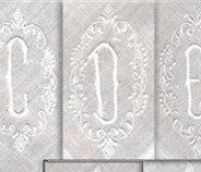 Fashion Men's Monogrammed Handkerchiefs 12 Pieces/Lot 17'x17White 100% Cotton Wedding Men's Hankies with White Single Initial D