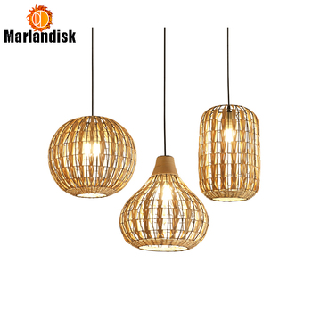 Special Metal With Rattan Pendant Lamp Cany Art E27 Pendant Light For Sitting Room Bedroom Dining Room Indoor Decorative Lamp