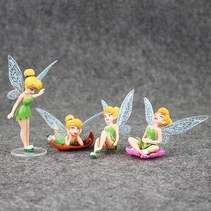Image 2 - 4 Cái/lốc Hình Công Chúa Đồ Chơi Tinkerbell Cổ Tích Quốc Bộ Cho Trẻ Em Quà Tặng Sinh Nhật