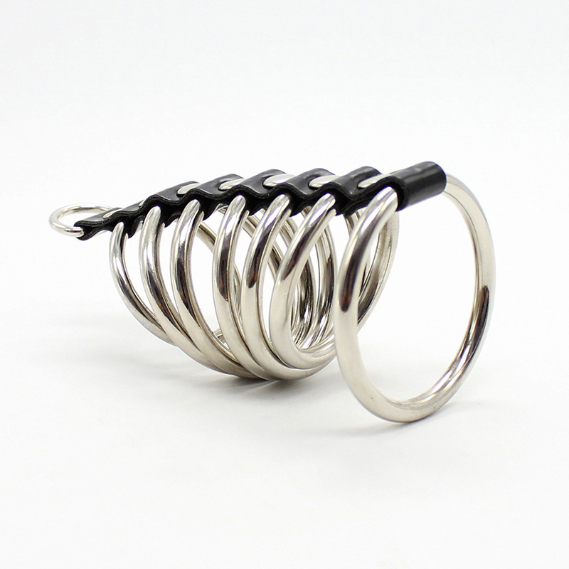 Crazy Male Stainless Steel Penis Ring Metal Cock Restraints Ring Set Bondage Kit Role Playing Dildos lock Sextoy Shop