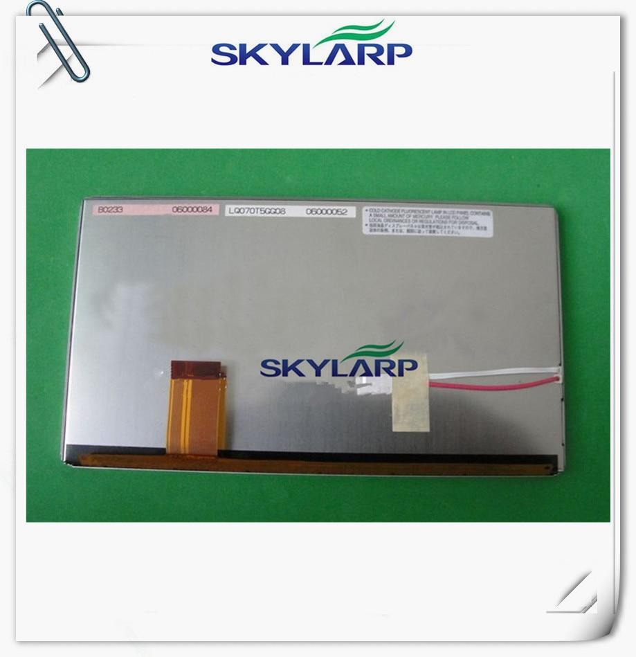 ФОТО Original 7inch LCD panel for Sharp LQ070T5GG08 Car GPS navigation LCD display screen panel Free shipping