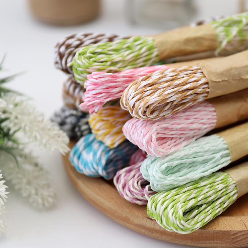 12 x 10 Meters Roll of Paper Raffia Cord Craft Twine Rope String Craft DIY Scrapbook SGG01 image