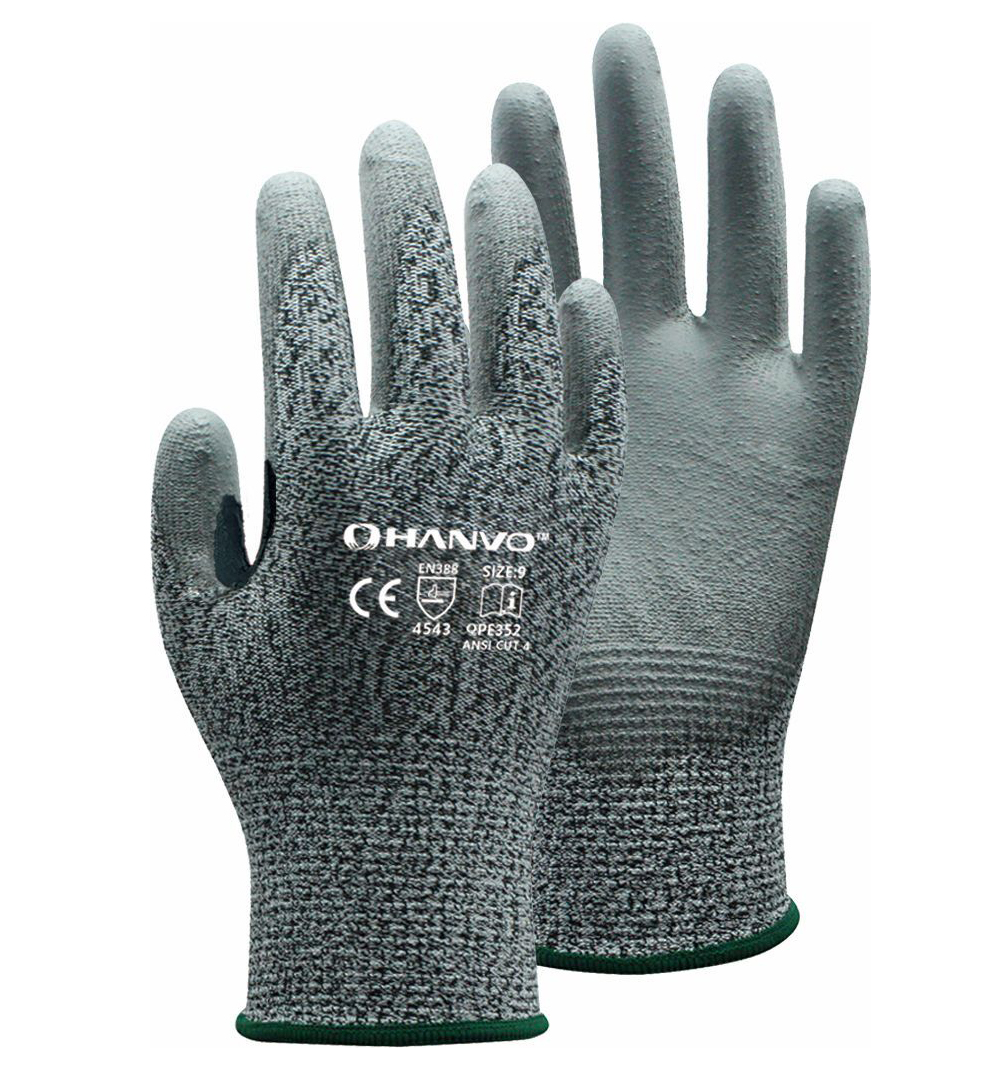 Aramid Fiber Cut Resistant Safety Glove PU ESD Working Glove HPPE Anti Cut Work Glove цены онлайн