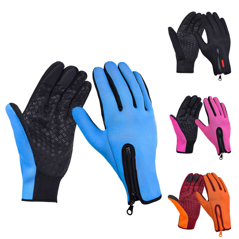 Full Finger Phone Glove Winter Ski Gloves Fleece Thermal Warm Bike Sport Gloves Motorcycle Bicycle Equipment Ski Cycling Gloves