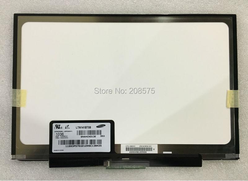 ФОТО Free Shipping LTN141BT08 LT141DEQ8B00 LCD Screen for Thinkpad T400S T410S FRU:04W0433 1440*900 Slim LED PANEL