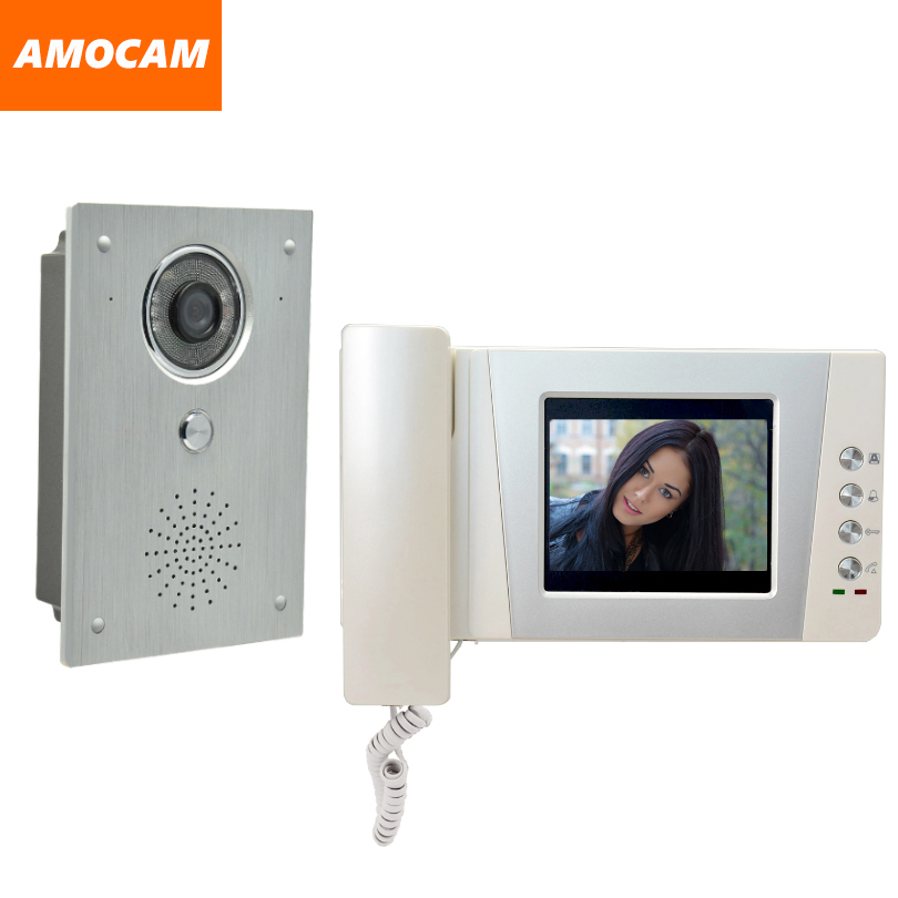 4.3 Telephone Monitor Video Door Phone System Aluminium alloy Camera Video Doorbell Intercom interphone kit for Apartment Home4.3 Telephone Monitor Video Door Phone System Aluminium alloy Camera Video Doorbell Intercom interphone kit for Apartment Home