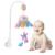 Cama Sino Bebê Chocalho Musical Berço Móvel Rotating Bracket Projetando Brinquedos para 0-12 Meses Newborn Crianças presente de Batismo