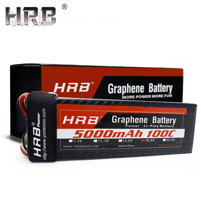 HRB 5S 18 5V 5000mah Graphene Lipo Battery XT90 For RC Helicopter Airplane Off Road Cars