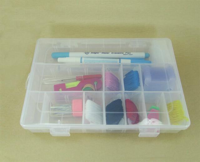 FREE Shipping detachable 24 compartments cross stitch organizer box , thread floss bobbin boxes box
