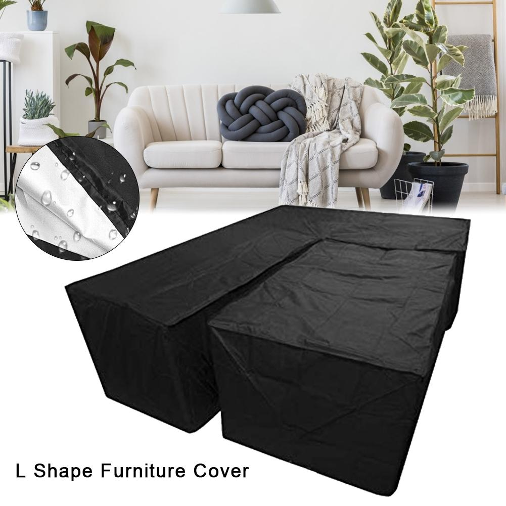 Image 2 - New 2Pcs Waterproof Dustproof L Shape Dust Cover Cube Corner Furniture Sofa Rattan Cover For Outdoor Garden Easy To Clean-in All-Purpose Covers from Home & Garden
