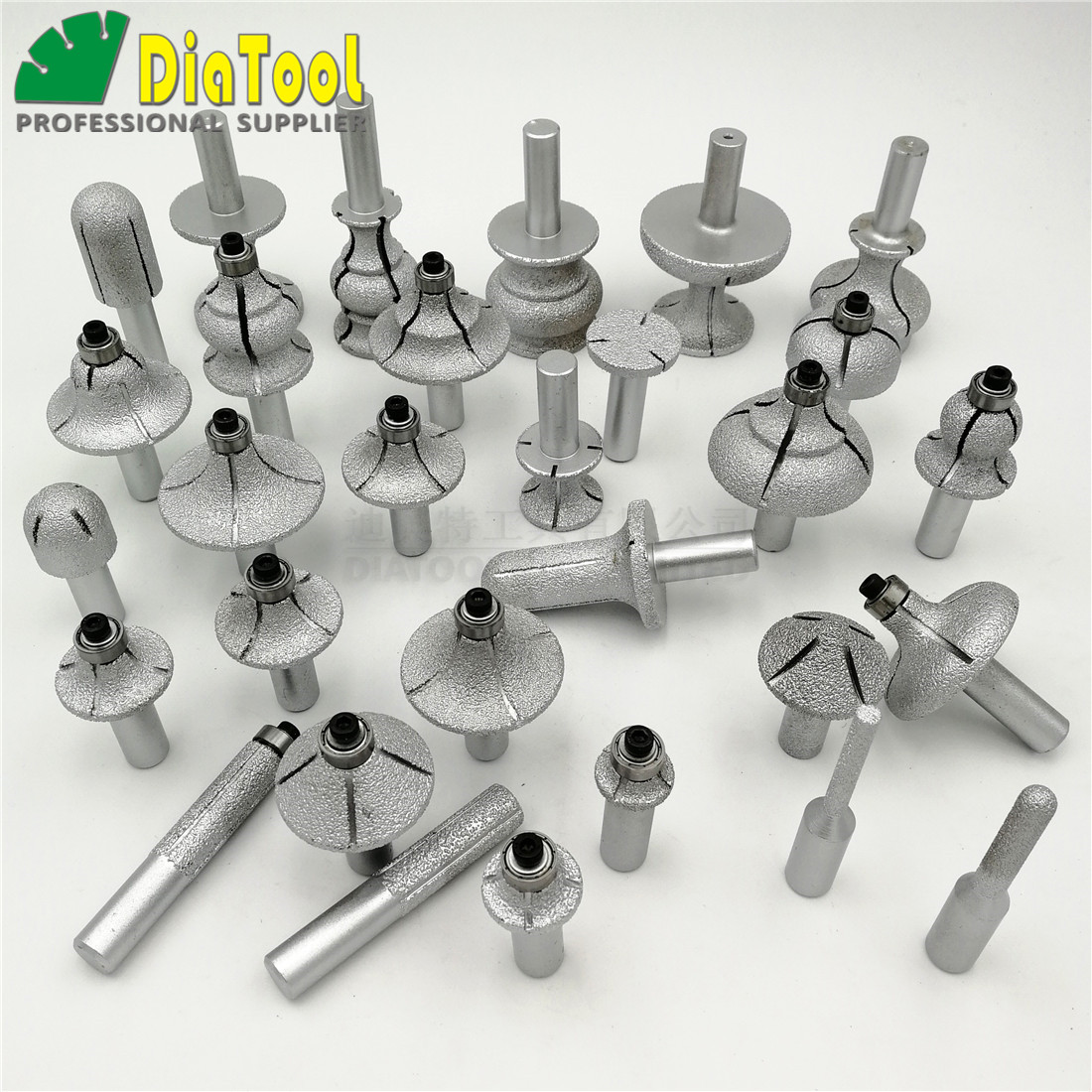 Hearty Shdiatool 1pc Vacuum Brazed Diamond Router Bits With 1/2 Shank For Stone Router Cutter For Granite & Marble In Pain Tools