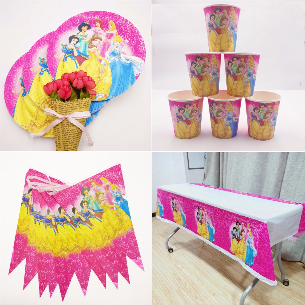 22PCS  Princess Happy Birthday Party Decoration Set Festival Event Supplies Kids
