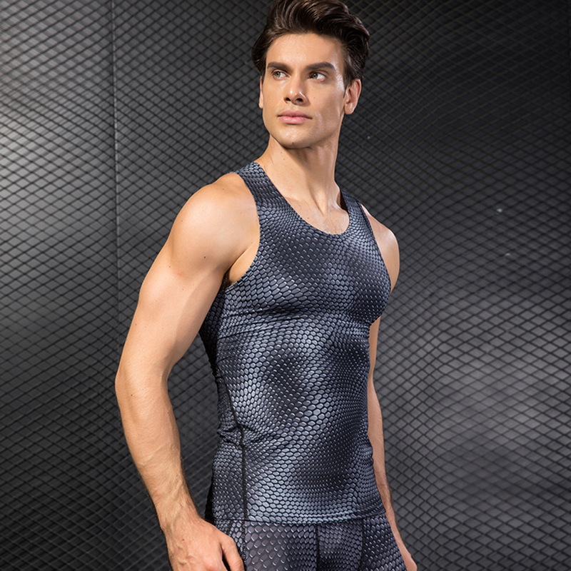 2019 new regatta compression shirt men 39 s fitness clothing bodybuilding breathable vest casual shirt shirt in Tank Tops from Men 39 s Clothing