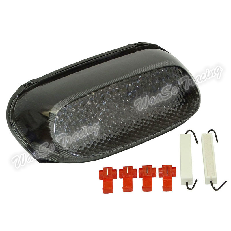 Waase pour KAWASAKI ZZR250 ZZR600 ZX-11 ZX600E ZZR1100 e-mark arrière feu stop clignotants intégrés lumière LED