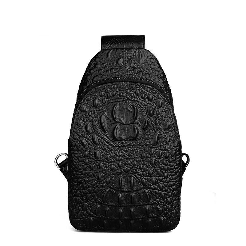2018 Genuine Leather Men Bag Male Chest Bag Travel Shoulder Man Crossbody Bags Men Messenger Bags Phone Sling Chest Pack 2016 shoulder bags for men new vintage genuine leather crocodile grain travel crossbody messenger sling pack chest bag bolsas