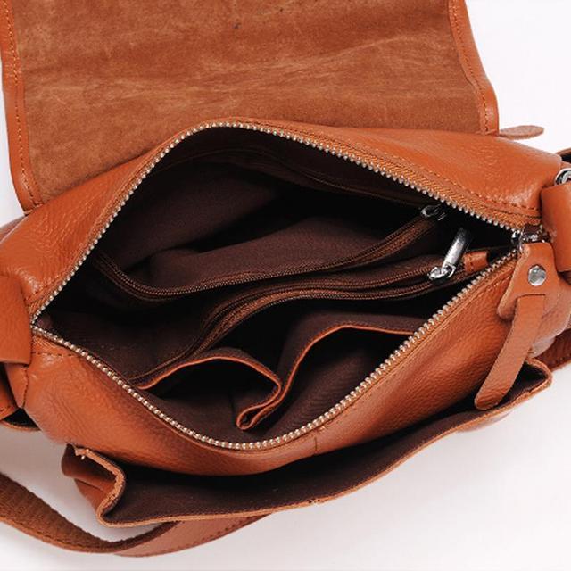 Genuine Leather Commuter Women's Bag Crossbody Cowhide Ladies Messenger Bags Causal Messenger Bags For Women Korean Famous Brand