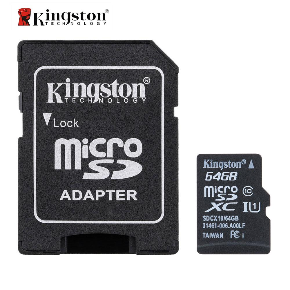 Genuine Original Kingston Class 10 8GB 16GB 32GB 64GB MicroSD TF Flash Memory Card Cards 48MB/s Maximal Speed with Card Adapter