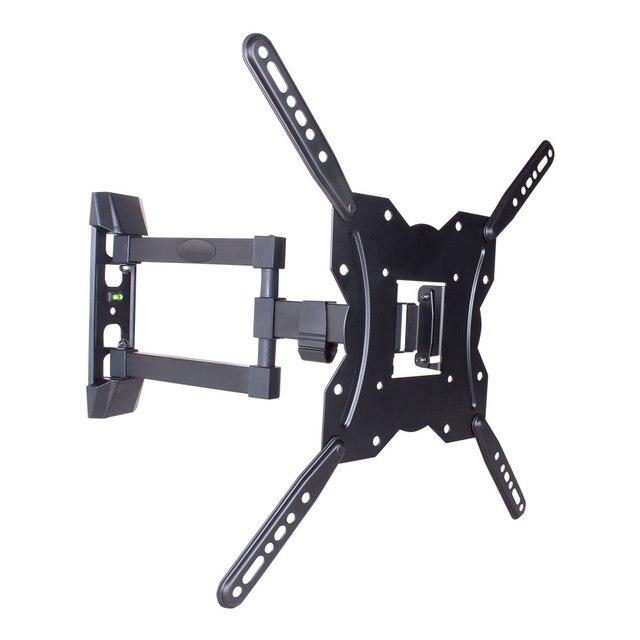 ТВ Кронштейн Kromax GALACTIC-40 (Настенный, наклонно-поворотный, сталь, диагональ экрана 22-65 дюймов, расстояние от стены 6.2-42.2 см, угол наклона -3+10°, макс.нагрузка 35 кг)