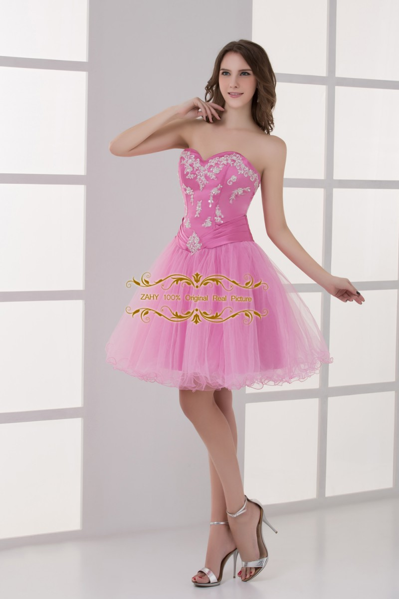 Con clase corto venta al por mayor vestido de fiesta una línea ...