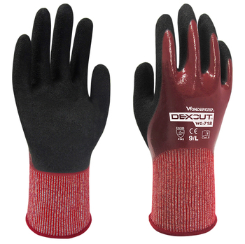 Waterproof Oil Chemical Proof Safety Garden HPPE Micro Foam Nitrile EN388 4543 Oilfield Gas Anti Cut Resistant Work Gloves chemical resistant safety glove 12 pairs nitrile fully dipped water proof oil resistant work gloves