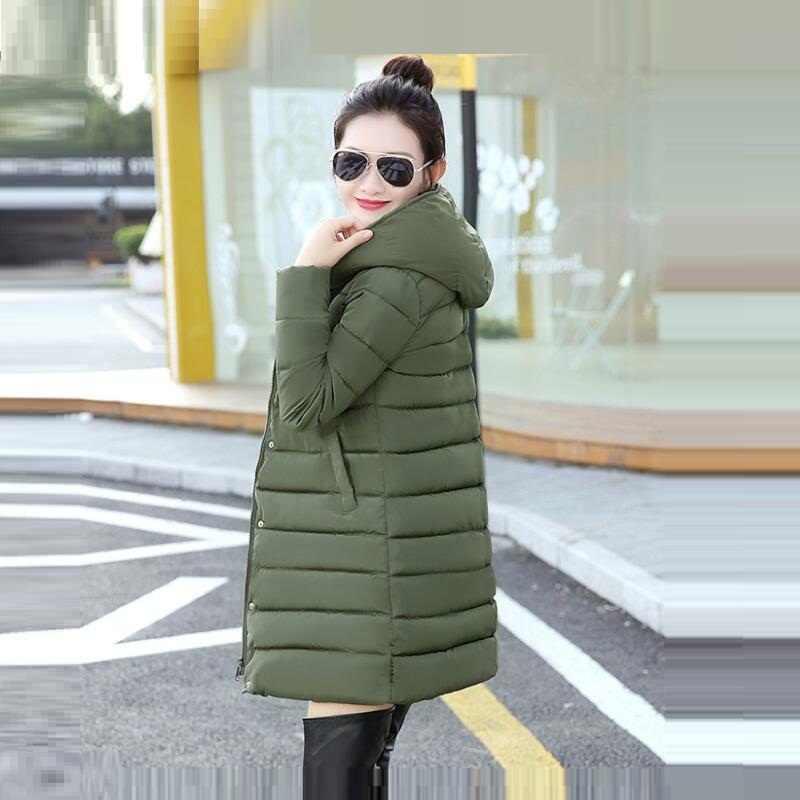 25db319d9123 ... Зимнее пальто Для женщин 2018 Новый стиль Модные утепленные зимняя  куртка Женская куртка-парка теплый ...