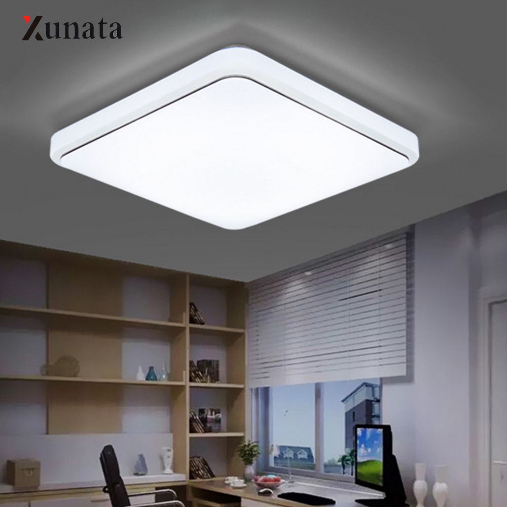 XUNATA LED Ceiling Light Modern Lamp Living Room Lighting Fixture Bedroom Kitchen Surface Mount 220V 12W 24W Modern LampXUNATA LED Ceiling Light Modern Lamp Living Room Lighting Fixture Bedroom Kitchen Surface Mount 220V 12W 24W Modern Lamp