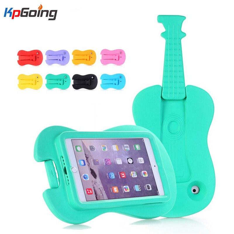 KpGoing Cute Guitar Shape Mini2 Case for iPad Mini 3 iPad Mini 4 Shockproof Kids Handle EVA Foam Case Cover for iPad Mini 2