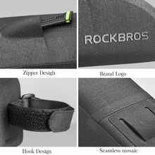 ROCKBROS Cycling Bike Bicycle Top Front Tube Bag Waterproof Frame Bag Big Capacity MTB Bicycle Pannier Case Bike Accessories
