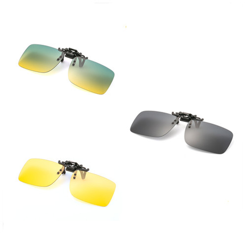 1PC Unisex Fishing Eyewear Clip On Style Sunglasses UV400 Polarized Fishing Eyewear Day Time / Night Vision Glasses
