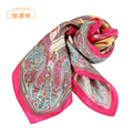 2014 100% pure spring silk scarf girls printed mulberry silk scarf large suqare floweral printed silk shawls beach towel 90*90cm