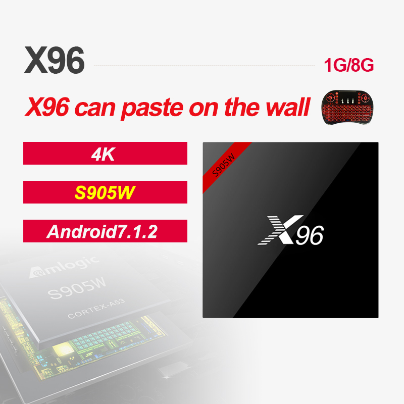 X96 X96W Android 7.1 Amlogic S905W Smart TV Box 1G/8G 2G/16G 2.4GHz WiFi HD 4K Set top BoxMedia Player PK X92 H96
