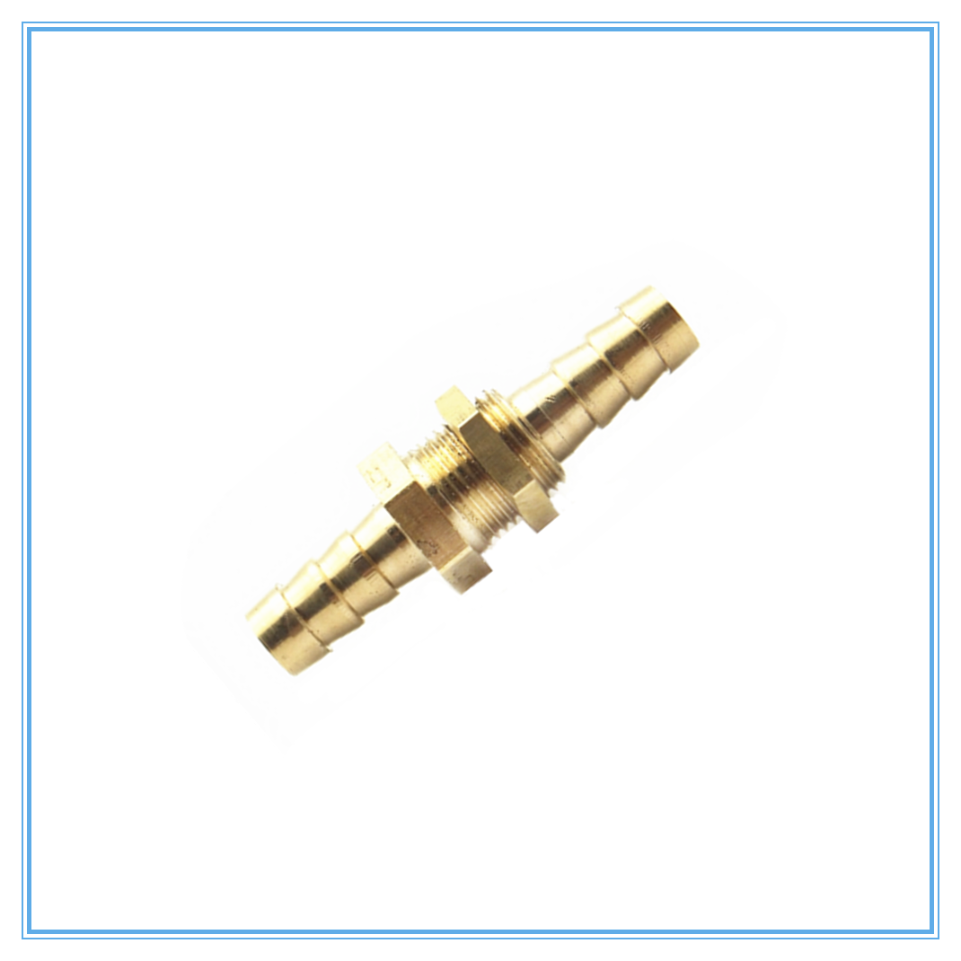 Pipe ID 6 8 10 12 14 16mm Hose Barb Bulkhead Brass Barbed Tube Pipe Fitting Coupler Connector Adapter For Fuel Gas Water  Copper