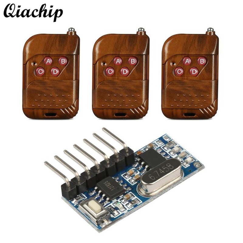 433 mhz RF Relay Receiver Learning Code Decoder Module Wireless 4 CH Output With Learning Button 433Mhz Remote Controls Diy Kits
