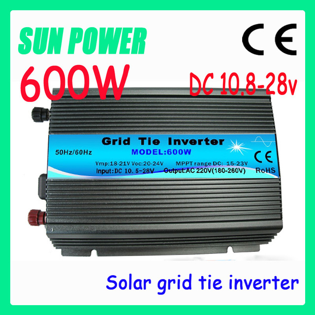 Free shipping 600W Grid Tie Inverter Max 700w for home ,Solar Power Inverter Input DC10.5V~28V Output AC90V~140V or AC180V~260V