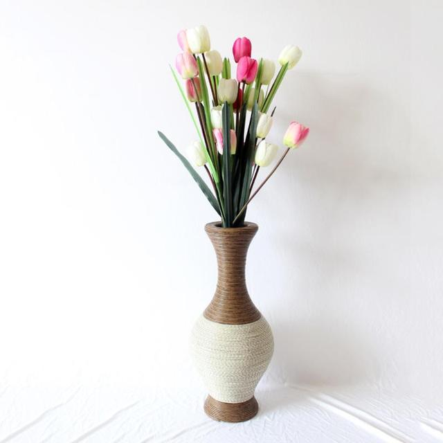 Aliexpress Buy Handmade Flower Vase Pc Plastic Rattan Woven