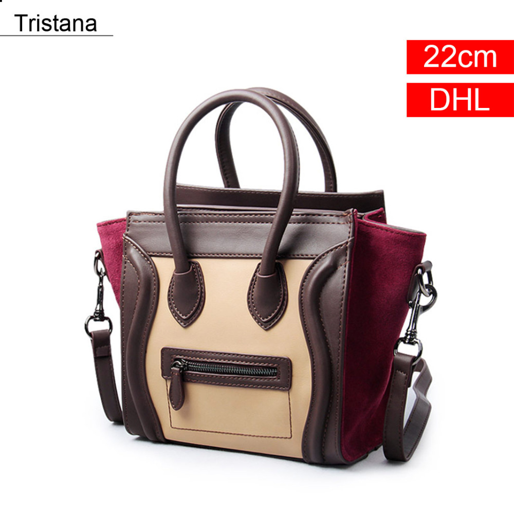 Tristana Wine + Khaki Color Patchwork Vintage Flap PU Bag Women Handbags & Crossbody bags DHL flap pu crossbody bag