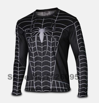 2016 Compression men long sleeve t shirts batman superman spiderman captain american punisher hulk fitness shirts men t-shirt