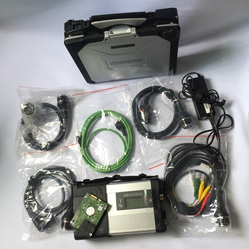 2018.7 Plein Puce MB ÉTOILES C5 avec 4 gb CF30 Ordinateur Portable et SSD/HDD Logiciel Vediam0 et DTS MB SD Connect C5 Prêt À Utiliser outil De Diagnostic