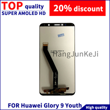 LCD  For Huawei honour 9 Youth LCD Display Touch Screen Digitizer Assembly 100% Test with Free Tools Mobile Phone Screen 100% new arrival 1pcs for huawei honor 7 mobile phone lcd display with touch screen digitizer assembly replacement free shipping