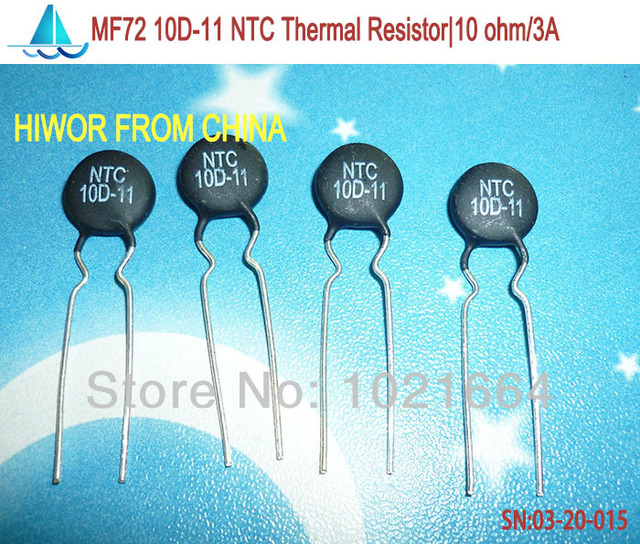 (100pcs/lot)(Thermal Resistors) 10D-11 NTC Thermal Resistor, 10 ohm Max. Steady State Current: 3A