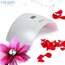 I'M GIRL SUN 9 S 24 Вт УФ светодиодный лампа для ногтей гель лак 365 + 450нм умный лак для ногтей Lmap Сушилка для ногтей Ice Nagel лампа Manucue 110-240 В