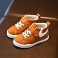 Novas Crianças Sapatos de Inverno Meninos Meninas Sneakers Hook & Loop cinta Esportes Sapatas Dos Miúdos Meninas Botas Curtas De Borracha Plana Moda sapatos